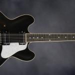 ES-335 'Dot', acabado en negro y golpeador blancol
